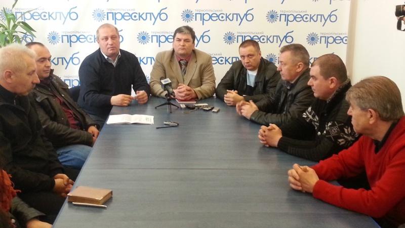 Фоторепортаж з прес-конференції « Як позначилась криза на перевізниках та пасажирах Тернополя»
