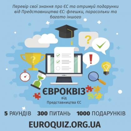Розпочалася Всеукраїнська онлайн-вікторина від Представництва Європейського Союзу в Україні