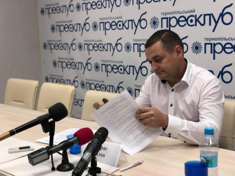 Про свою роботу впродовж року звітує депутат Тернопільської міської ради Тарас Білан