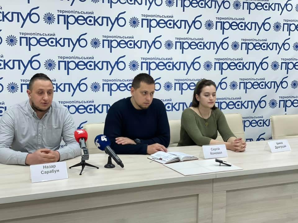 Пресконференція представників місцевих організацій, покликаних сприяти ефективному захисту незалежності української держави проти російської агресії